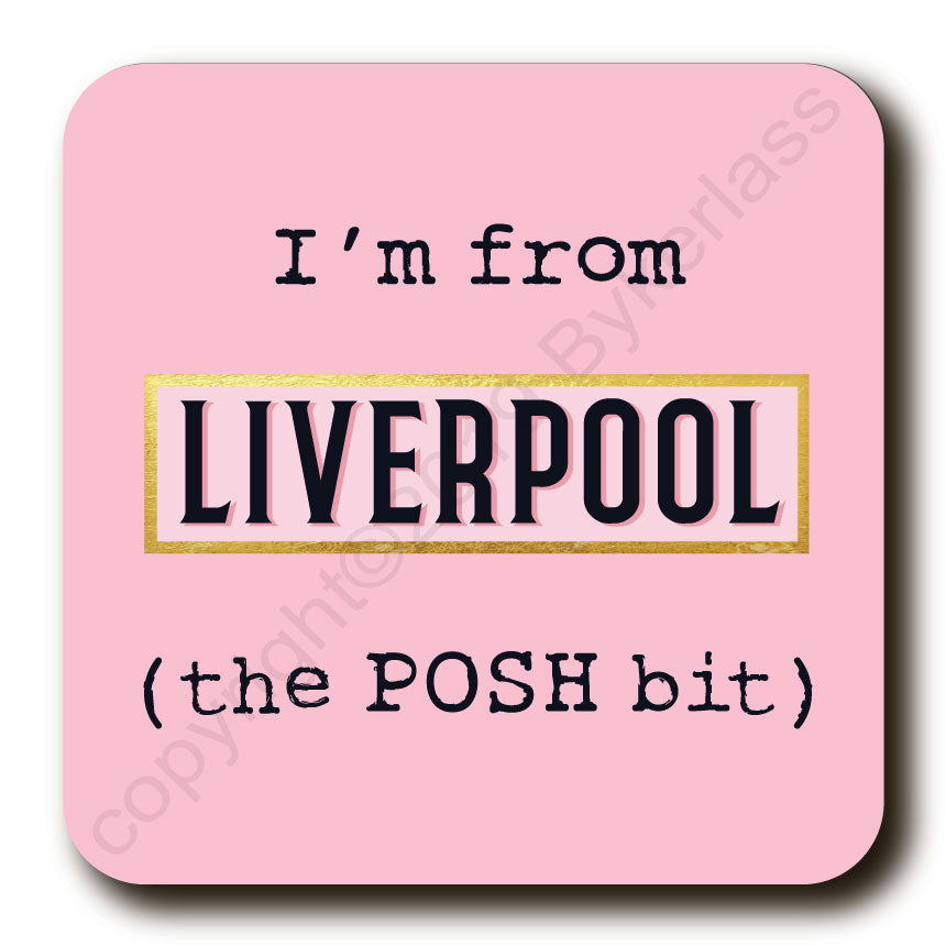 I'm From XXX PINK The Posh Bit - Cork Backed Coasters by Wotmalike