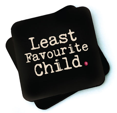 Least Favourite Child -  Dark Collection Wooden Coaster - RWC1