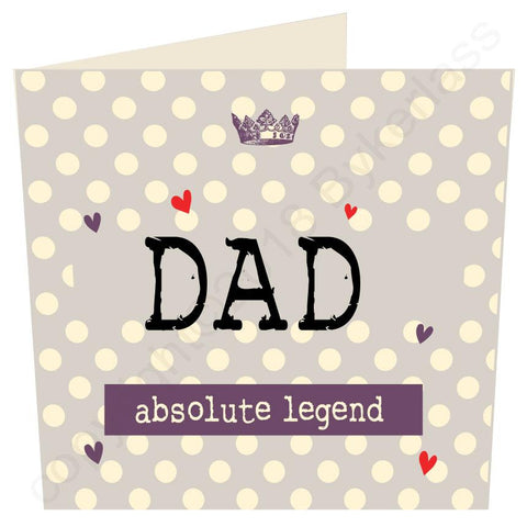Dad Absolute Legend (Father's Day Card)  (MB58)