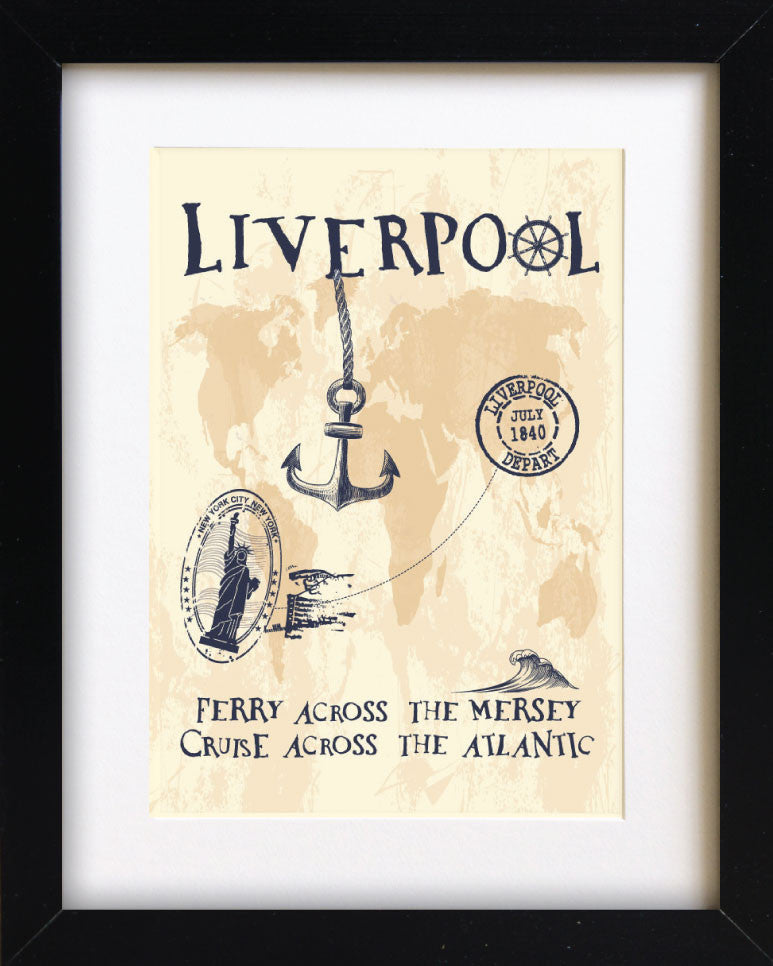 Liverpool - Ferry Across the Mersey, Cruise Across the Atlantic Print