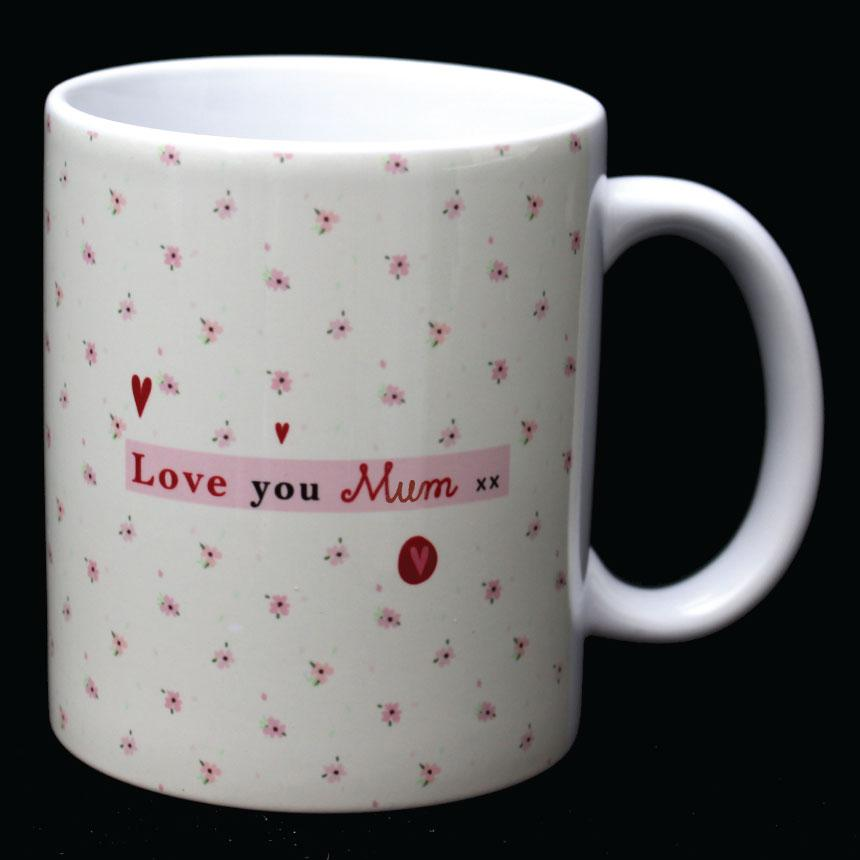 Love You Mum Mug by Wotmalike