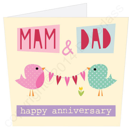 Mam & Dad Anniversary Card