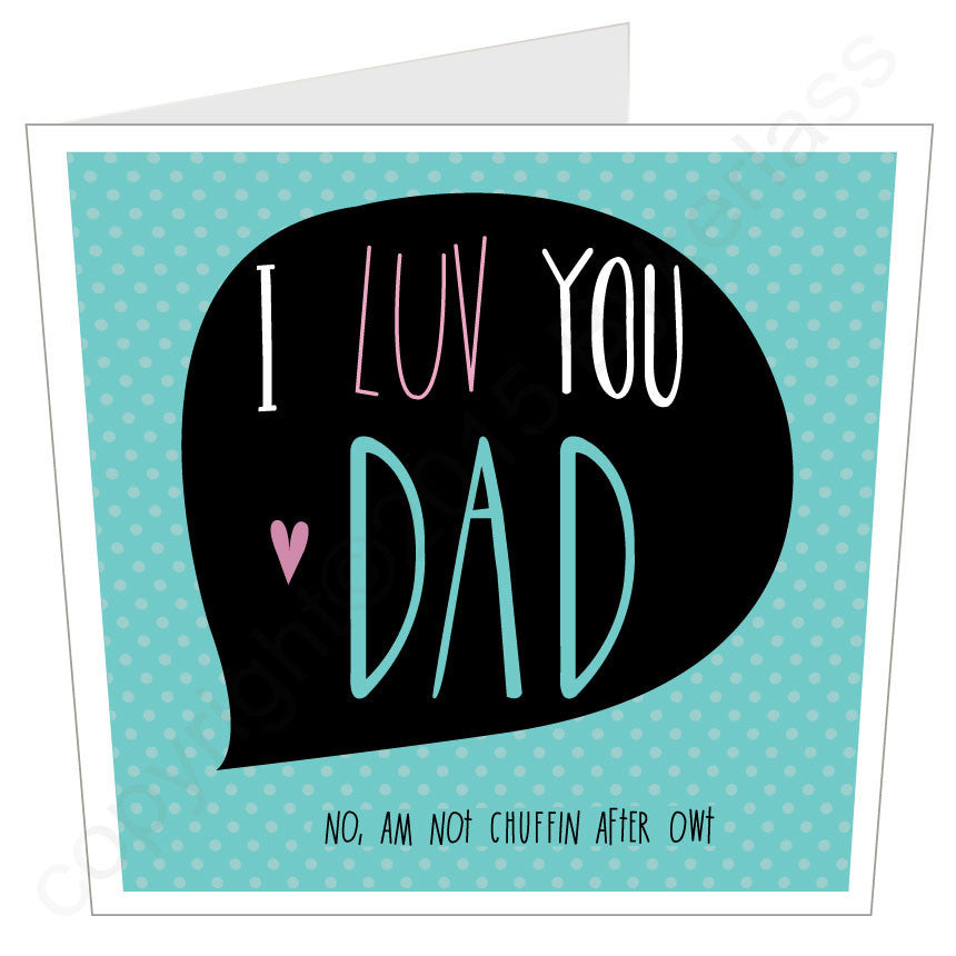 I LOVE YOU DAD Yorkshire LARGE Yorkshire Card (MB20)