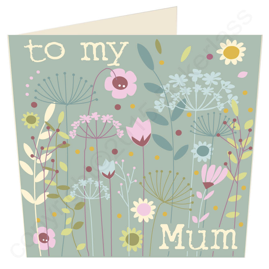To My Mum Contemporary card