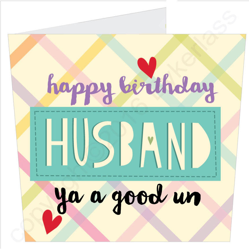 Happy Birthday Husband Card by Wotmalike