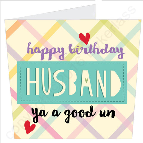 Happy Birthday Husband Card (MB41)