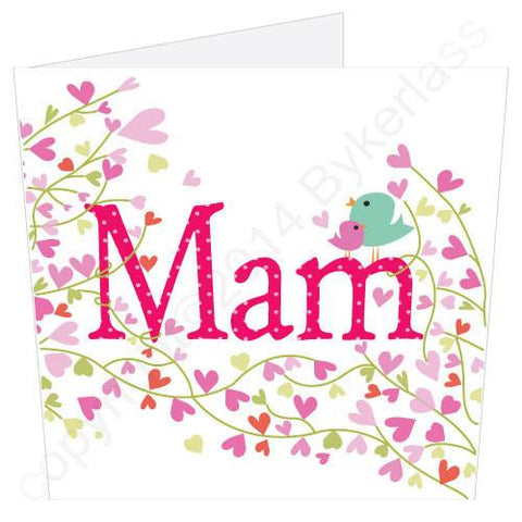 Mam Flowers Birdie Mothers Day Card -  (MB4) Large Card