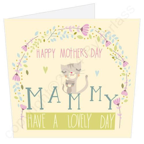 Happy Mothers Day Mammy Cat (MB6) Large Mothers Day Card - s