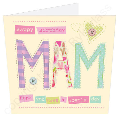 Happy Birthday Mam Card (MB8) Large Card