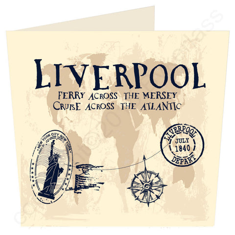 Liverpool - Ferry Across The Mersey, Cruise Across the Atlantic Large Scouse Card (MBL1)