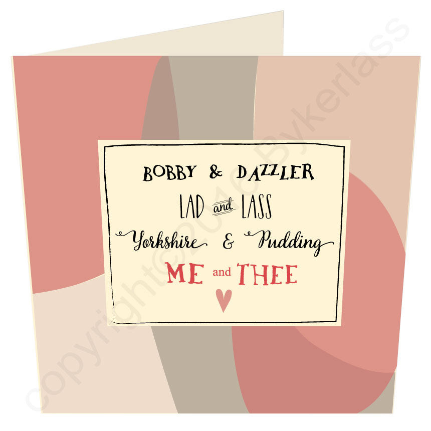 Me and Thee Go Together  - Valentines Card LARGE CARD