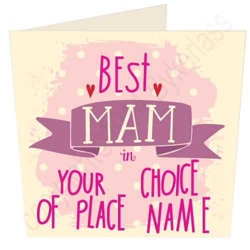 "Best Mam in ""Your Choice"" Personalised Card"