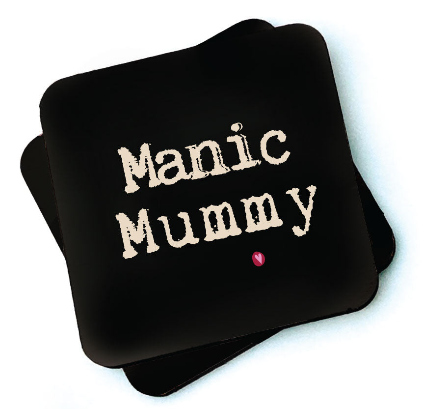 Manic Mummy -  Dark Collection Wooden Coaster by Wotmalike