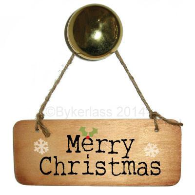 Merry Christmas Rustic Wooden Sign