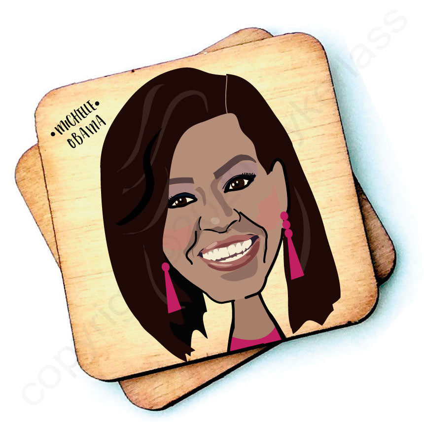 Michelle Obama - Character Wooden Coaster
