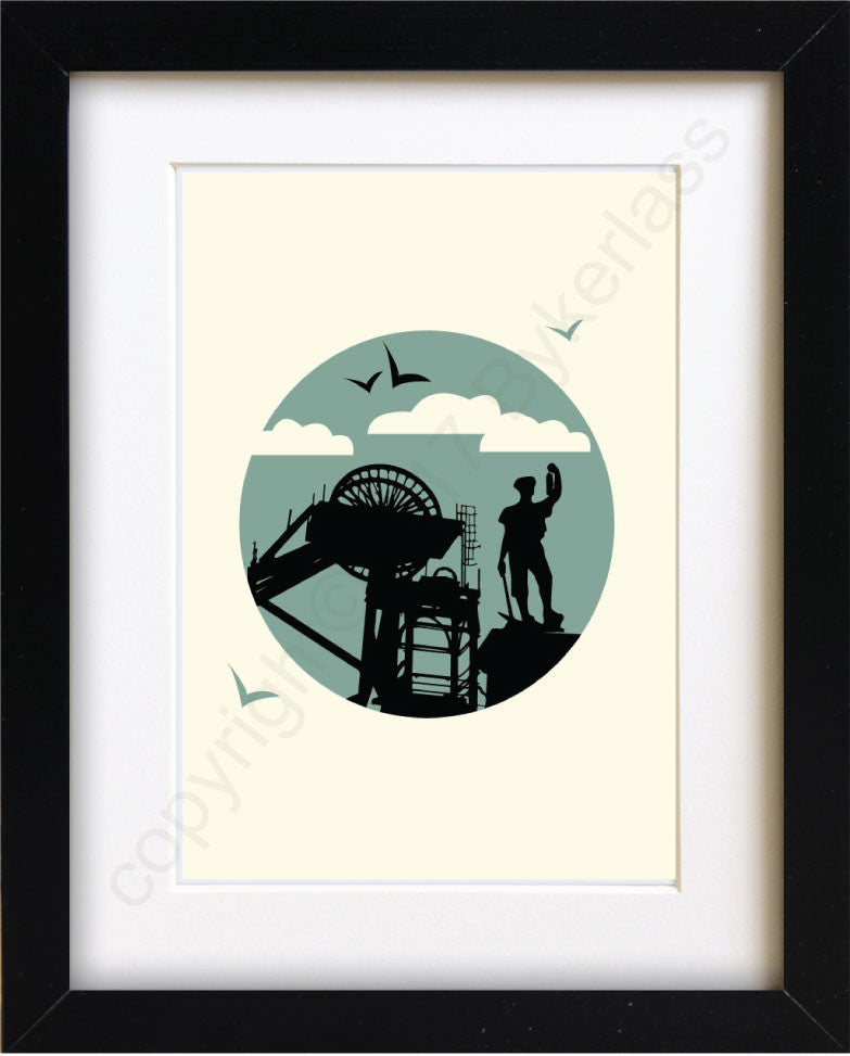 Miner Portrait Print - Industry Mounted Print by Wotmalike