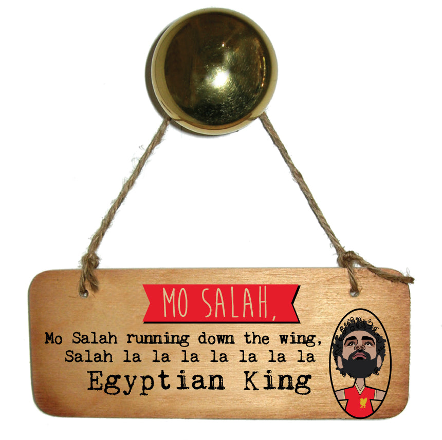 Mo Salah Egyptian King Scouse Rustic Wooden Sign
