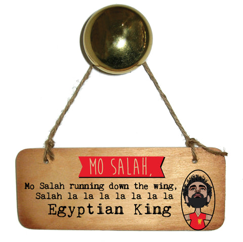 Mo Salah Egyptian King Wooden Sign RWS1