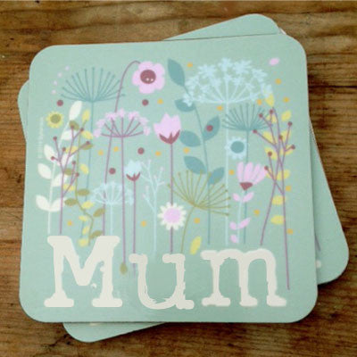 Floral Mum Coaster Mothers Day