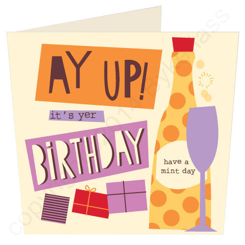 Ay Up It's Yer Birthday - North Divide Birthday Card
