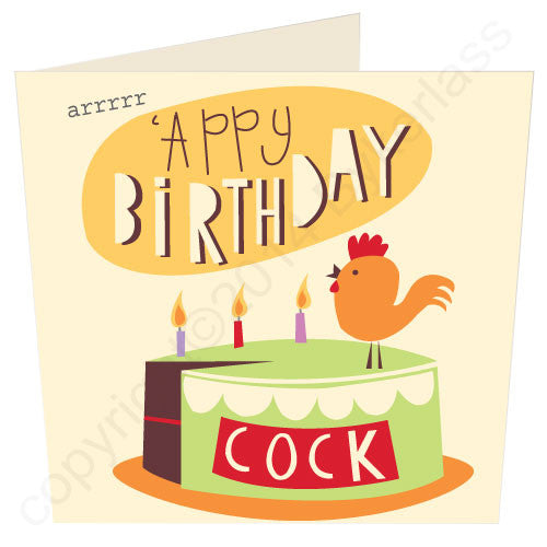 'Appy Birthday Cock - North Divide Birthday Card
