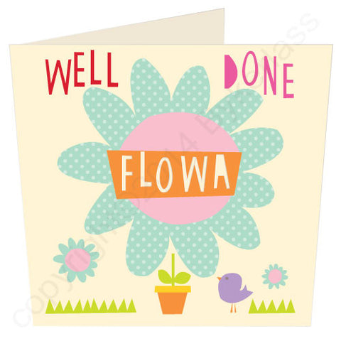 Well Done Flowa - North Divide Congratulations Card (ND24)