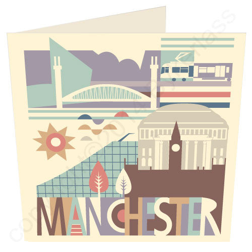 City Scape Manchester North Divide Cards