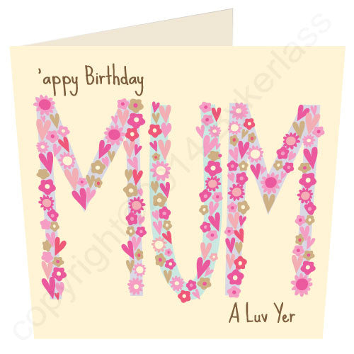 'Appy Birthday Mum - North Divide Birthday Card (ND33)