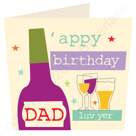 'Appy Birthday Dad - North Divide Birthday Card (ND34)