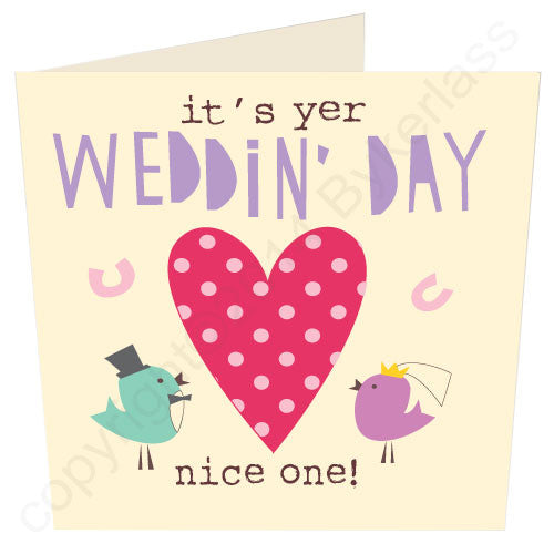 It's Yer Wedding Day - North Divide Wedding Card