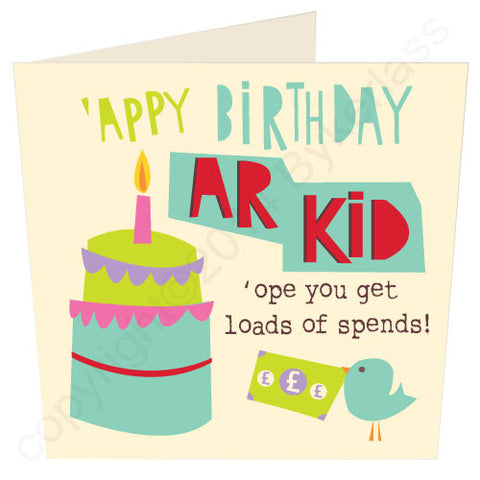 'Appy Birthday Ar Kid - North Divide Birthday Card (ND6)