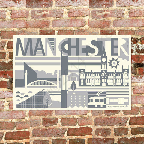 City Scape Manchester City Tea Towel (NDTTCity)