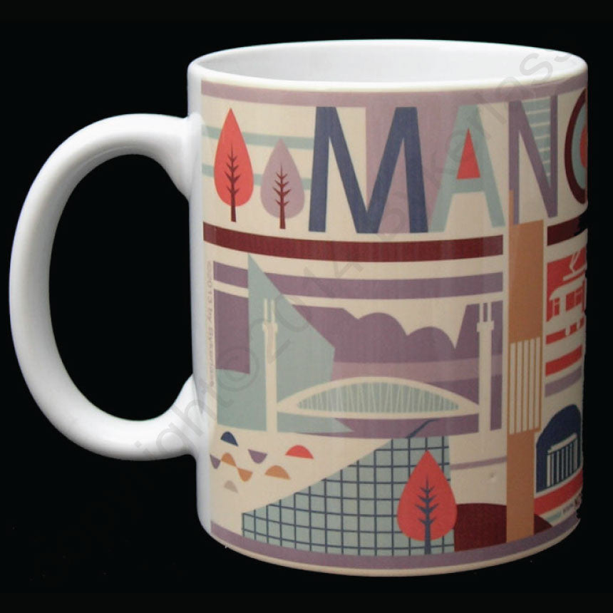 City Scape Manchester North Divide Mug
