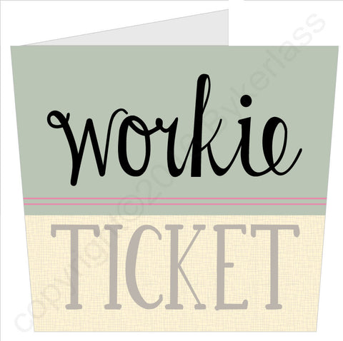Workie Ticket North East Best Selling Card (NES7)