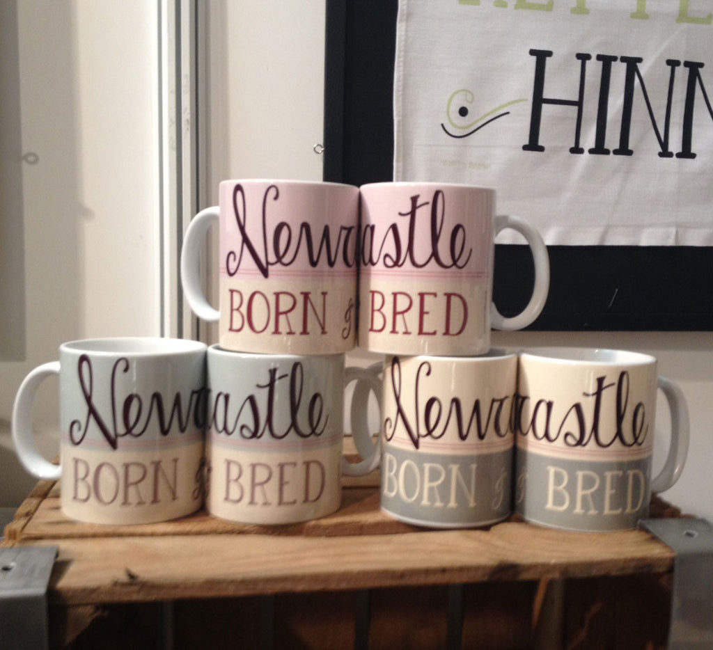 Newcastle Born and Bred Mug - High quality ceramic Geordie Mug