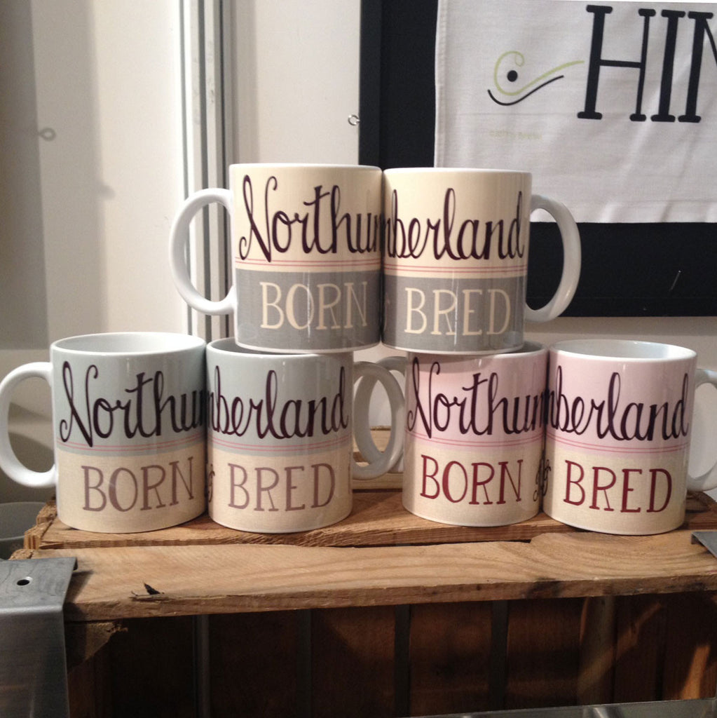 Northumberland Born and Bred Mug - High quality ceramic Mug