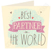 Best Partner in ......  (Pink) Personalised Card MB13