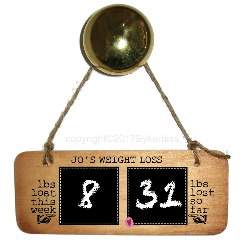 Weight Loss Sign - Weight Loss Countdown Plaque Diet/Health Inspirational Rustic Fab Wooden Sign