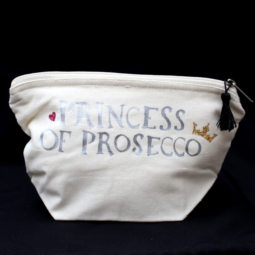 Princess of Prosecco Make Up Bag