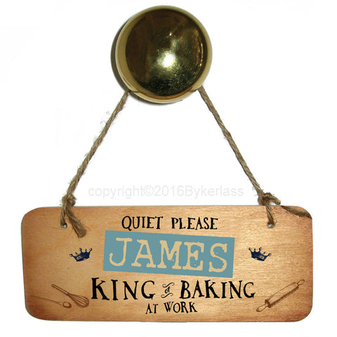 NEW! Personalised King of Baking Wooden Sign - RWS1