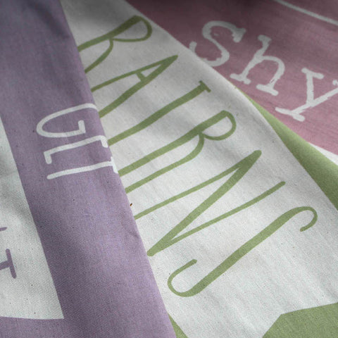 NEW! Shy Bairns Get Nowt Geordie Tea Towels available in three colours (SBTT1)