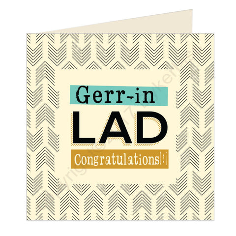 Gerr-in Lad Congratulations Exam Card