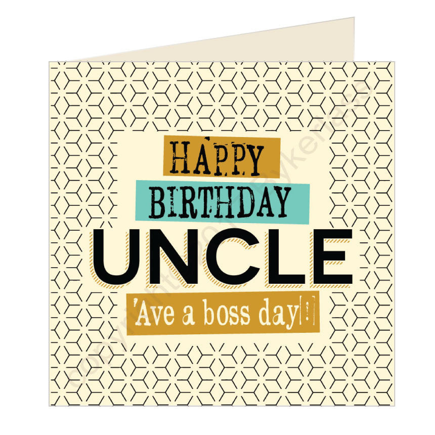 Happy Birthday Uncle - Scouse Card