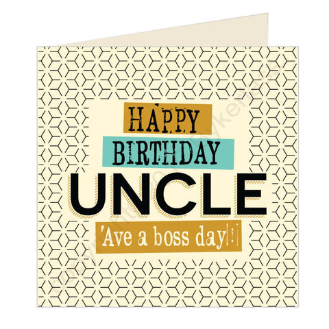 Happy Birthday Uncle - Scouse Card (SQ23)