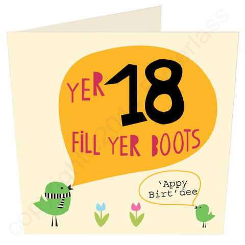Yer 18 - Scouse 18th Birthday Card (SS18)