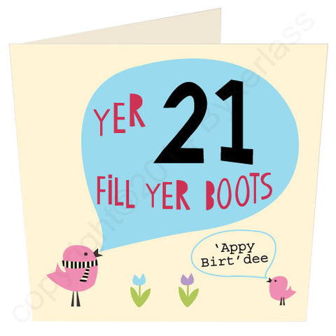 Yer 21 - Scouse 21st Birthday Card (SS19)