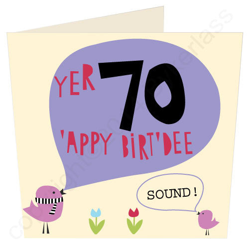 Yer 70 - Scouse 70th Birthday Card