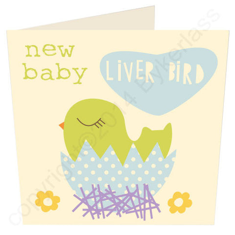 Baby Liver Bird Boy - Scouse Baby Card (SS33)
