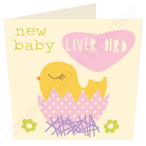 Baby Liver Bird Girl - Scouse Card