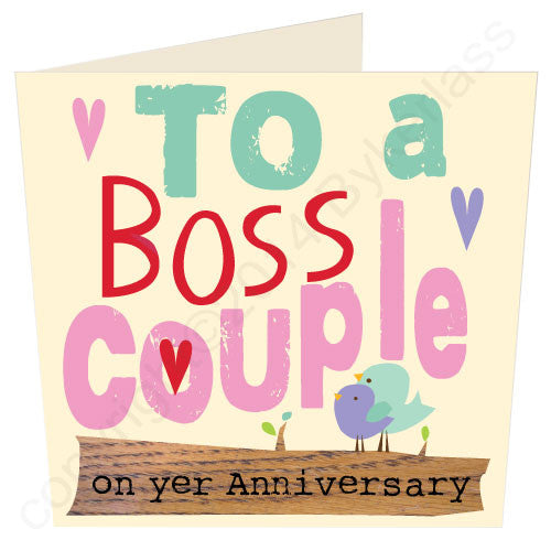 To A Boss Couple Scouse Anniversary Card